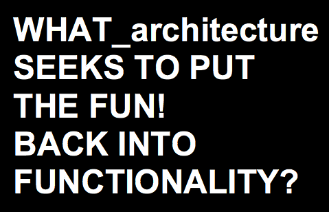 WHAT_architecture