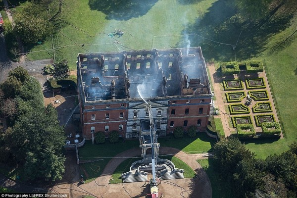 Clandon House gutted